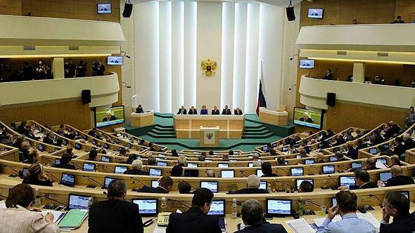 Заседание совфеда - второй палаты федеративного собрания