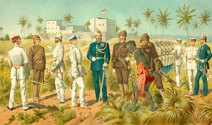 Типичная колония в Африке с белыми господами и рабами