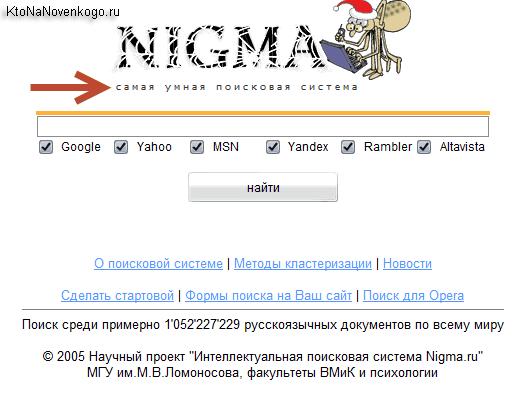 Нигма — поисковая система Nigma с уклоном в математику ...