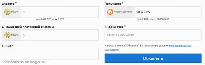 обмен биткоина на рубли