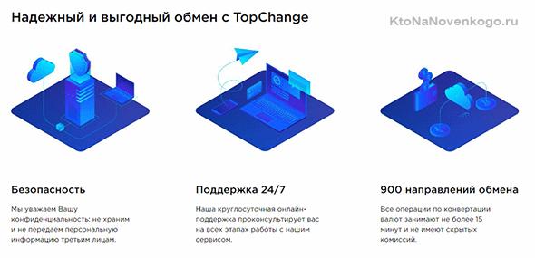 Обмен с topchange