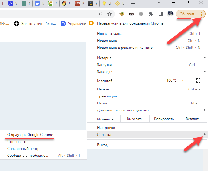 как перезагрузить браузер Google Chrome img-1