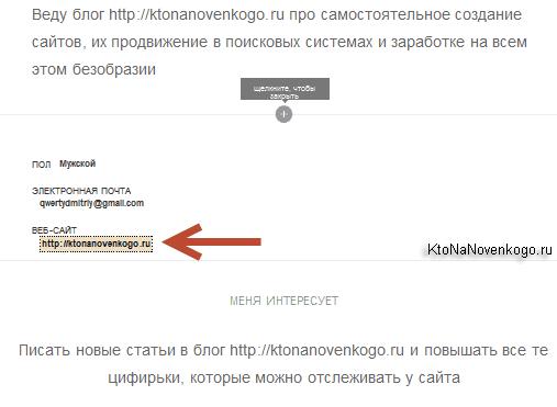 Ссылка на ваш сайт с Яху