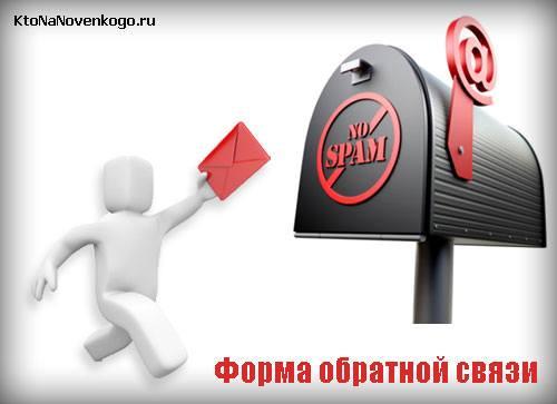 Форма обратной связи для сайта с защитой от спами
