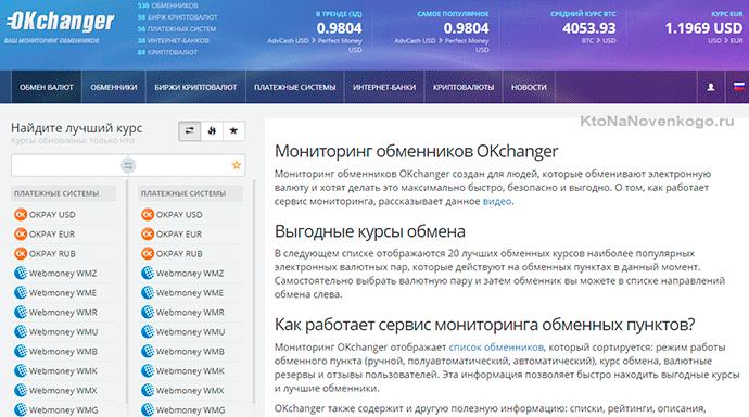 Бесплатный мониторинг обменных курсов электронных валют и биткоинов