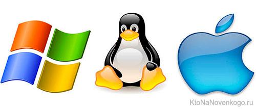 Логотипы различных ОС
