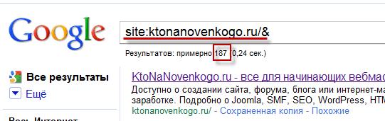 Как узнать сколько страниц сайта находится в основном индексе Гугла