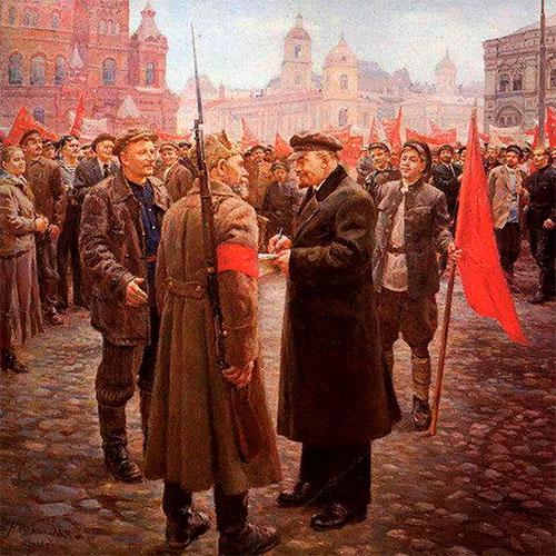 Парламентарии беседуют с Лениным