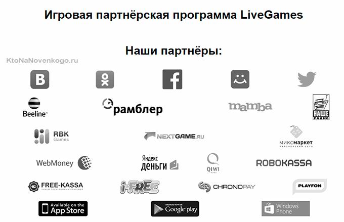 партнеры livegames