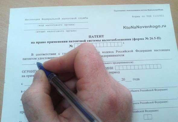 Патент для ИП