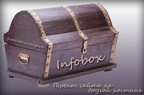 Перенос сайта на новый хостинг Infobox, выбор между обычным и VPS, а также работа с панелью управления хостера, создание, продвижение и заработок на сайте