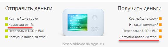 Перевод денег с кошелька на кошелек в ОкПей