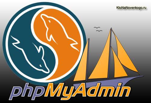 Коллаж из логотипов PhpMyAdmin