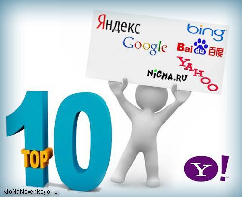 Логотипы популярных поисковых систем