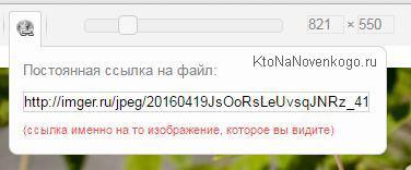 Получение ссылки на картинку уменьшенную в онлайн-редакторе cropper.ru
