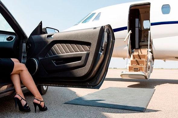 Посадка в престижный частный самолет