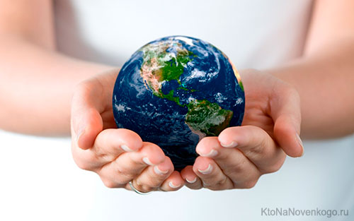 Земля в руках человека