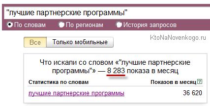 Пример накрутки Яндекс вордстата