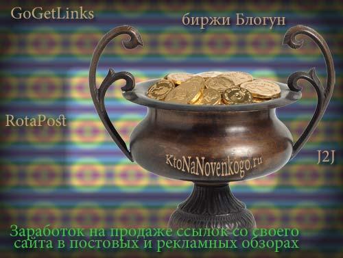 Горшочек с золотыми монетами символизирующий заработок на блоге