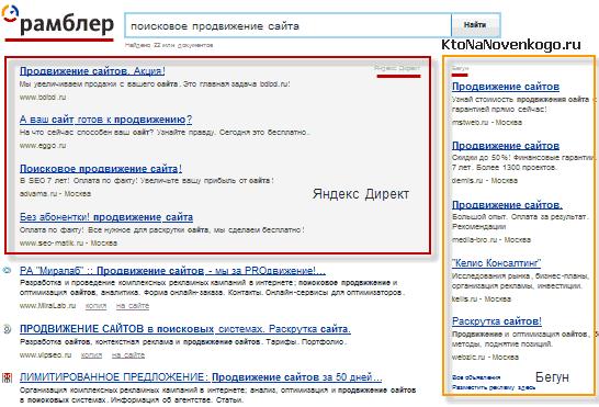 Продвижение сайтов реклама яндекс рамблер раскрутка и продвижение сайта своими силами