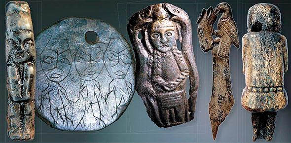 Примеры артефактов найденных при распкопках
