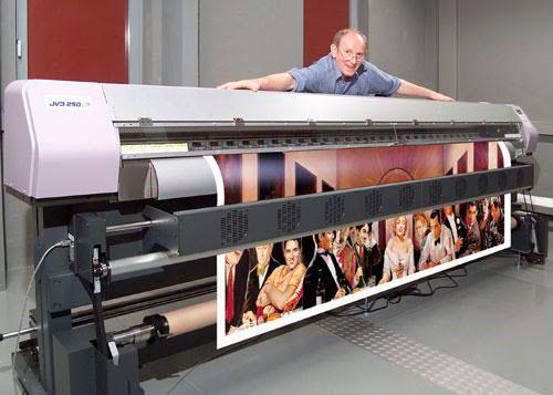 Размеры оборудования для печати огромных постеров