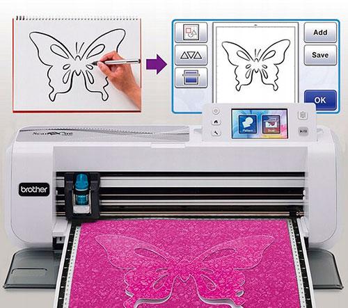 Бабочка напечатанная на принтере