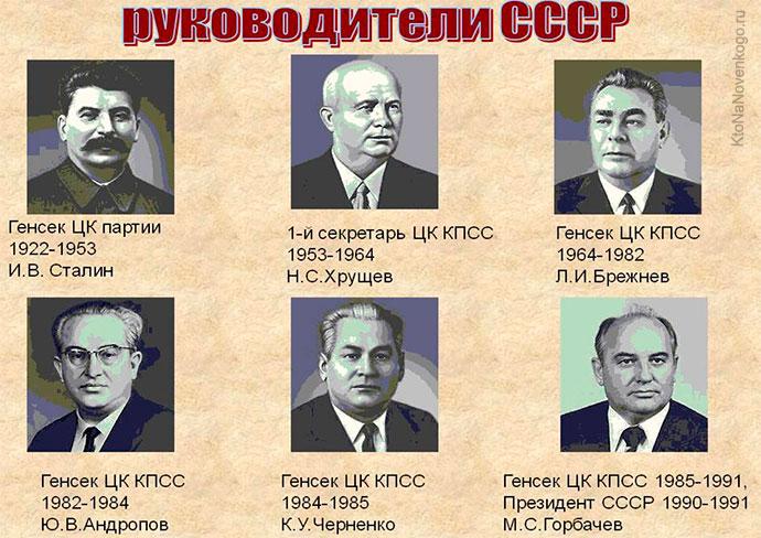 Правители СССР