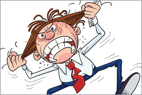 Рвем волосы в состоянии гнева