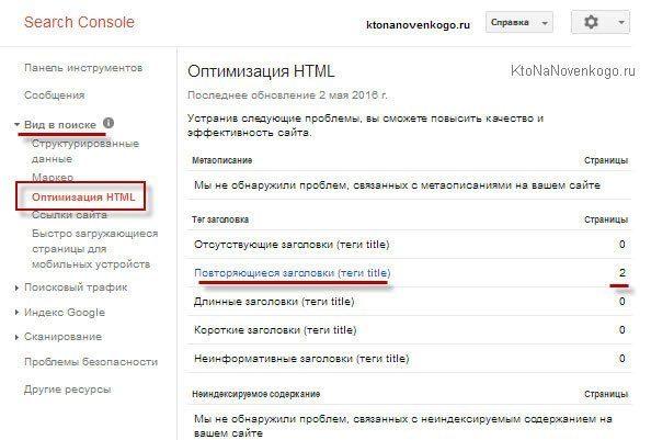Самостоятельная проверка уникальности тайтлов в Гугл вебмастере