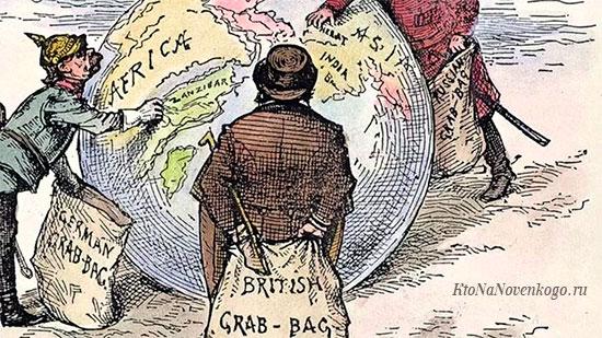 Территории колоний времен английской империи
