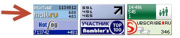 Так может выглядеть счетчик от Майл.ру на вашем сайте
