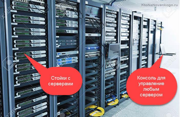 Стоечные server в серверной комнате