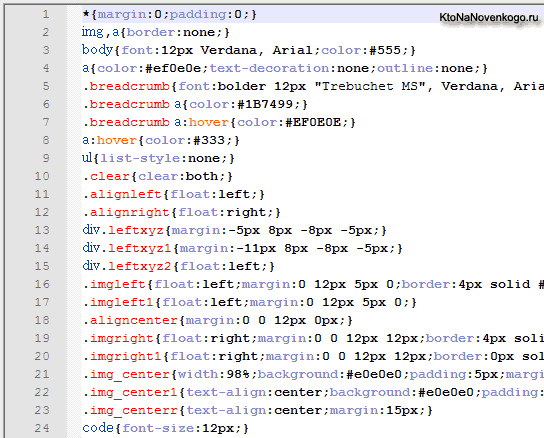 Убираем из CSS кода лишние пробелы и уменьшаем его размер