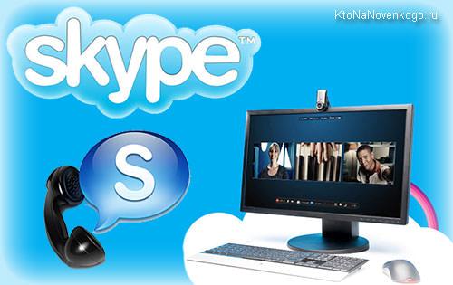 Коллаж из логотипов Скайпа
