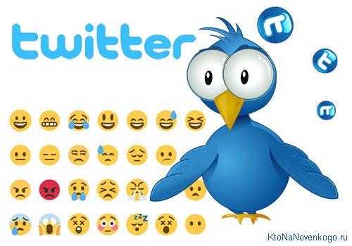 Смайлы для Twitter