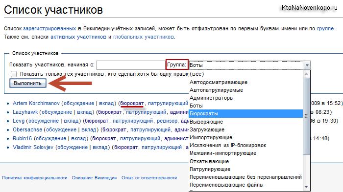 Список всех участников русскоязычной Википедии