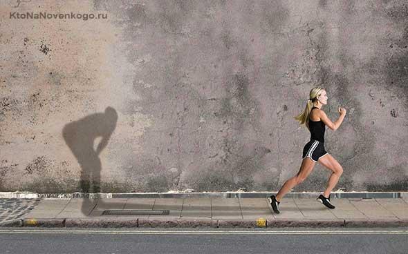 Спортсменка и тень