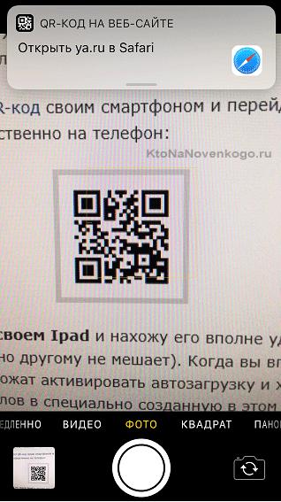 Ссылка в виде QR кода