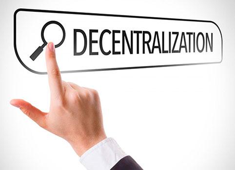 Слово децентрализация написано по английски