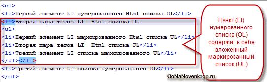 Списки в Html коде — теги UL, OL, LI и DL