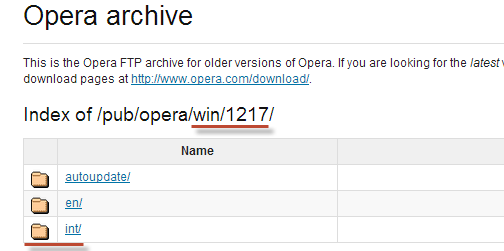 Как установить старую Оперу на компьютер