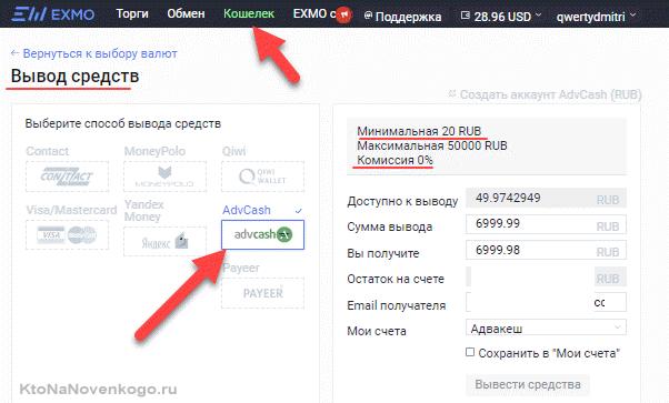 Вывод с FreeDogecoin через биржу Эксмо