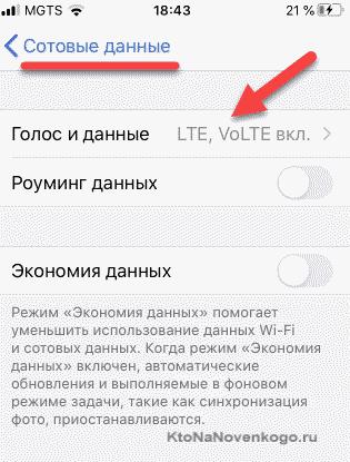 Подключение VoLTE на IOS