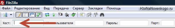Поля в Файлзиле для быстрого ввода логина и пароля