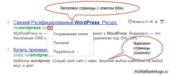 Как представлен ваш сайт в выдаче Гугла