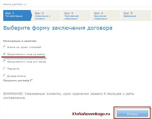 Заявка на получение договора на вывод средств с ИП через Вебмани