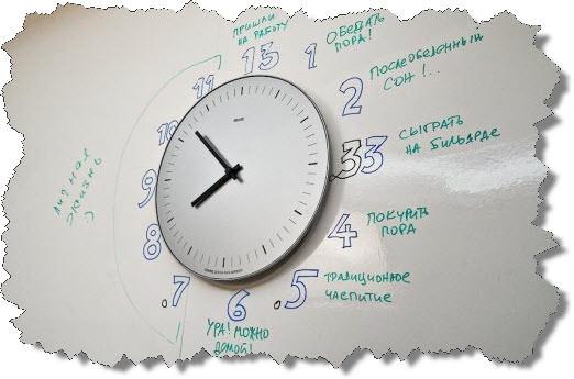 Шуточное расписание сотрудников офиса Яндекса