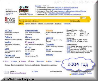 Яндекс в 2004 году