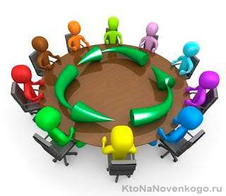 За круглым столом